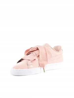 Basket heart patent sneaker peach pink 3 - invisable