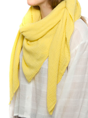 Cachecol musselin scarf yellow 3 - invisable