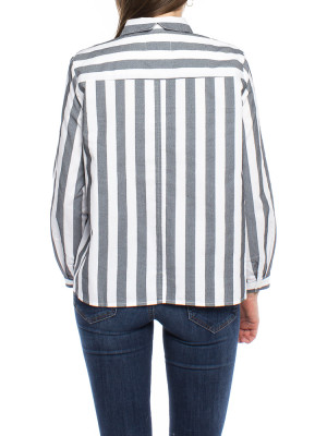 Ida blouse grey stripe 3 - invisable