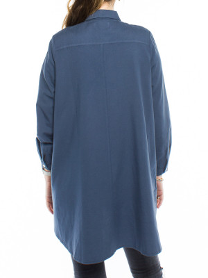 Nuria blouse navy 3 - invisable
