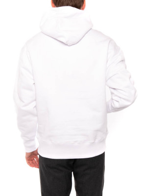 Tommy badge hoody white 3 - invisable