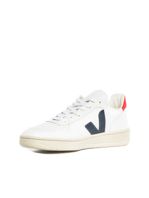 V-10 leather sneaker white blue red 3 - invisable