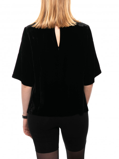 Isabel blouse velvet black