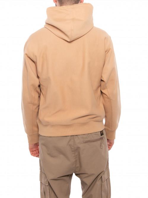 Hooded script sweater dusty brown