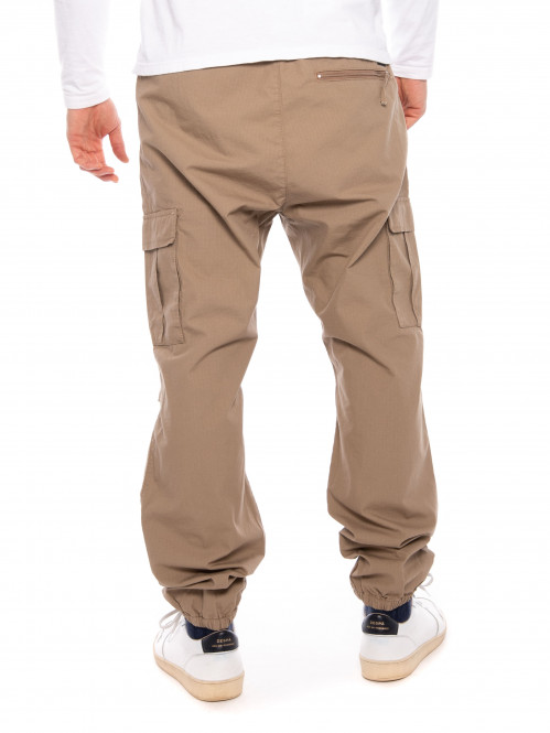 Cargo jogger leather
