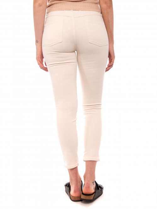 Skinny pusher jeans creme