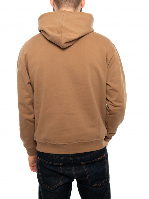 Hooded sweater brown oak