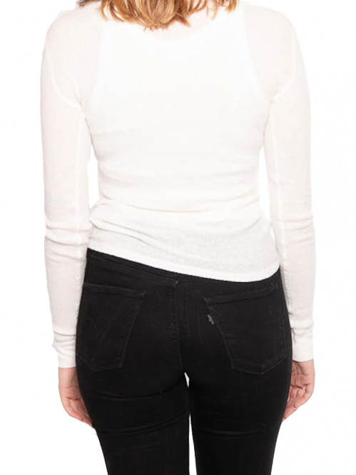 Riza longsleeve blanc