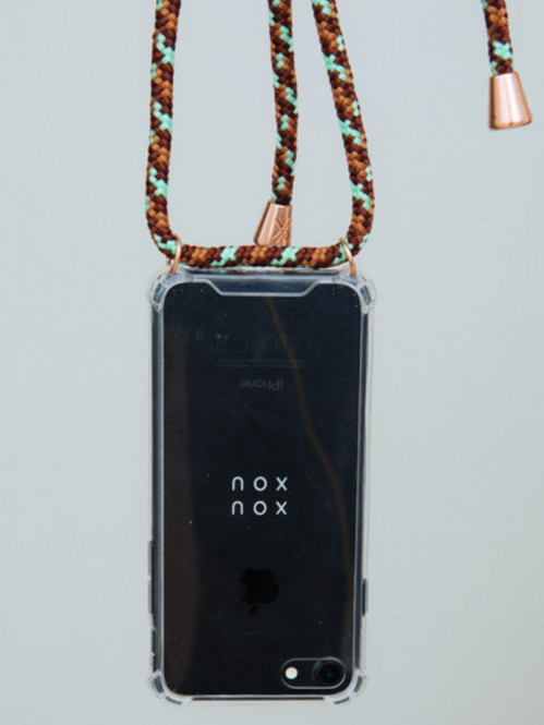 iPhone necklace X camo copper