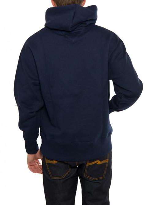 Badge hoodie black iris