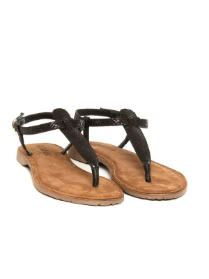 Dalmatin sandals black 4 - invisable