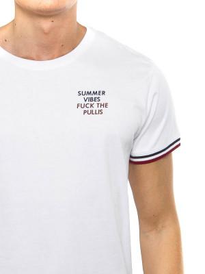 Summer Vibes t-shört white-navy/burg 4 - invisable
