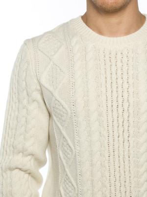 Arild cable knit pullover ecru 4 - invisable