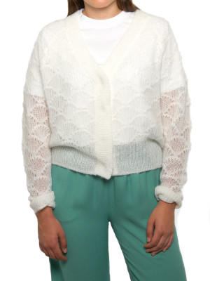 Palm knit cardigan off white 4 - invisable