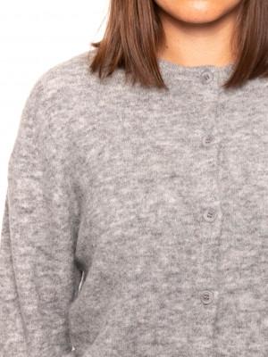Nor short cardigan grey mel 4 - invisable