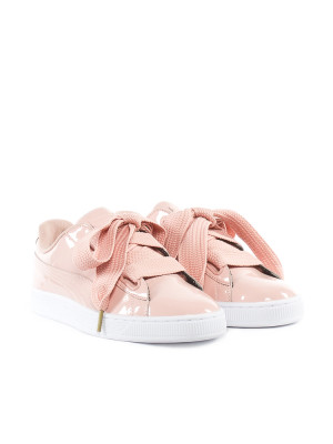 Basket heart patent sneaker peach pink 4 - invisable