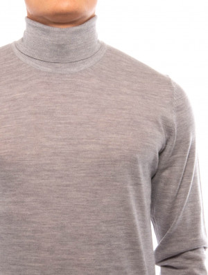 Flemming pullover turtle grey mel 4 - invisable