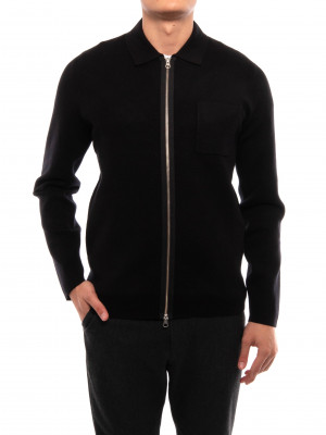 Guna cardigan x zip 10490 black 4 - invisable