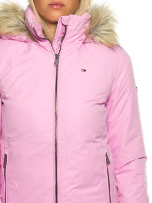 Hooded down jacket rose 4 - invisable