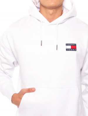Tommy badge hoody white 4 - invisable