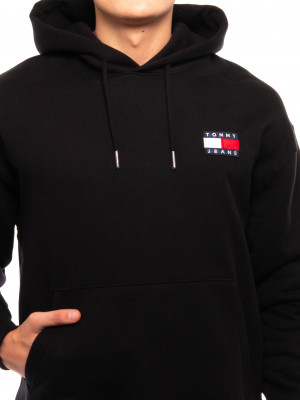 Tommy badge hoody black 4 - invisable