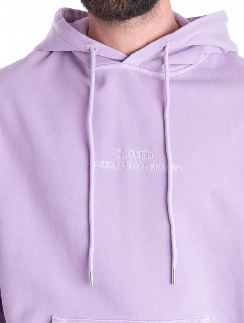 Hooded sweater wisteria
