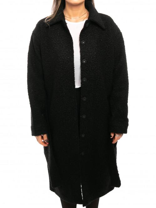 Komar boucle coat black