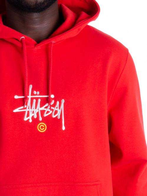 Stussy copyright hoodie red