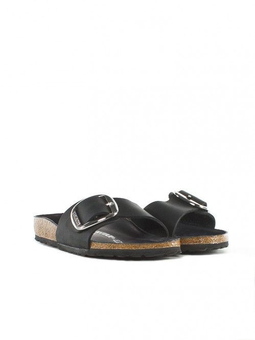 Madrid big buckle sandals black