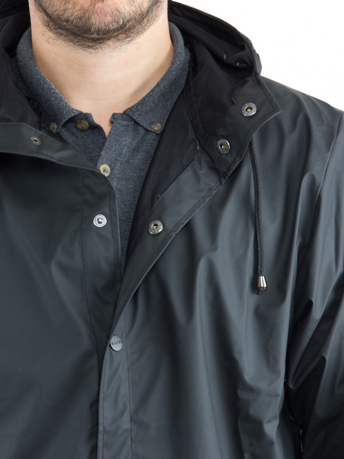 Long rain jacket black