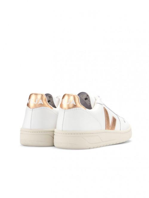 V10 leather sneaker white venus