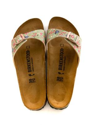 Madrid sandals meadow flowers khaki 5 - invisable
